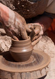 Potter at work Royalty Free Stock Images