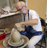 The potter at work Royalty Free Stock Photo