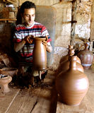 The potter working Stock Photography