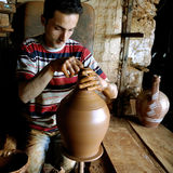The potter working Stock Image