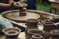 Potter working Stock Images