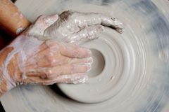Potter working clay Stock Photography