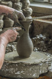 Potter working with clay Stock Photos