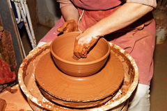 Potter working Stock Photography