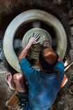 Potter. A potter working in his studio Royalty Free Stock Images