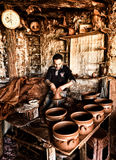 The potter working Royalty Free Stock Photos