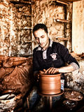 The potter working Royalty Free Stock Photography