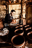 The potter working Stock Photo