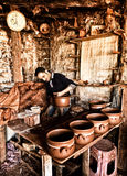 The potter working Stock Images
