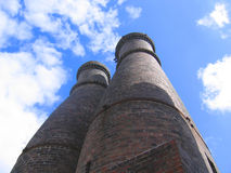 Potteries. Pottery Kilns Against the Sky stock photos
