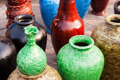 Potteries, art work , Indian handicrafts fair at Kolkata Royalty Free Stock Photos