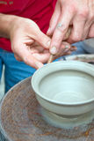 A potters hands Stock Image