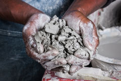 Potters hands Stock Image
