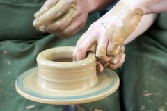 Potters hands Royalty Free Stock Image
