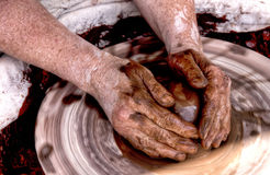 Potters hands  2 Royalty Free Stock Image