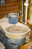 Potters Wheel and tools Royalty Free Stock Image