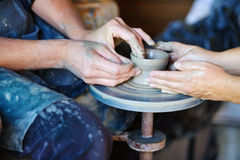 Potters wheel Stock Photos