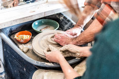 Potters Wheel Stock Images