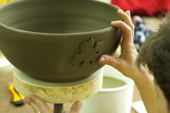 Pottery. Majolika, the making of Royalty Free Stock Images