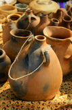 Pottery. Examples of Native American pottery on display which Stock Image