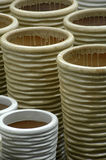 Pottery 12. A large display of colorful pottery royalty free stock photography