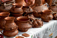 Pottery. Some pottery expose for sell Stock Photography