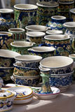 Pottery. Some pottery expose for sell Royalty Free Stock Images