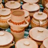 Pottery. Traditional Romanian pottery festival, Cucuteni and Horezu ceramics Royalty Free Stock Images