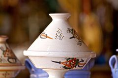 Pottery. Beautiful traditional pottery from Algeria Royalty Free Stock Photography