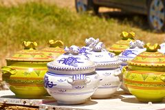 Pottery. Beautiful traditional pottery from Algeria Royalty Free Stock Images