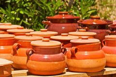 Pottery. Beautiful traditional pottery from Algeria Stock Image