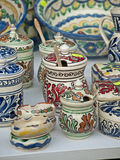 Pottery. Some pottery expose for sell Stock Images
