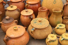 Pottery. At the market in Lithuania Stock Photography