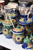 Pottery. Fair pain and pottery artisans Royalty Free Stock Photo