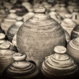 Pottery. Wares on Potters Square Royalty Free Stock Photo