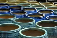 Pottery 5. A large display of colorful pottery Royalty Free Stock Photo
