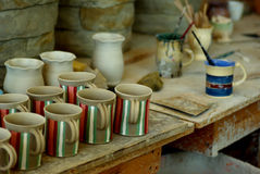 At the pottery stock photos
