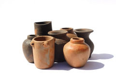Pottery. Pots from Turkey in the sun royalty free stock images