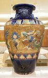 Pottery of ancient. Big Pottery of ancient china conserve Royalty Free Stock Photo