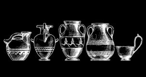 Pottery of ancient Greece. Royalty Free Stock Photos