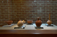 Pottery. AUGUST 2, 2016 - IRAN - Museum and a collection of historic earthen potteries Stock Photos