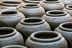 Pottery background Stock Photography