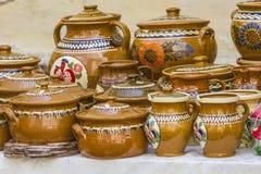 Pottery. Beautiful traditional pottery from Romania Royalty Free Stock Photos