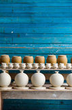 Pottery biscuit on the shelf Royalty Free Stock Photography