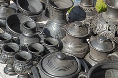 Pottery black stock photography