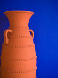 Pottery on blue Royalty Free Stock Image