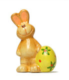 Pottery Bunny With Egg royalty free stock photos