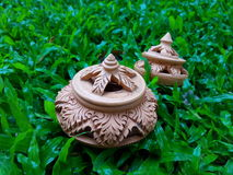 Pottery. Is the ceramic material which makes up potterywares Royalty Free Stock Images