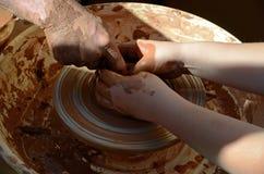 Pottery (ceramics lesson) Stock Image