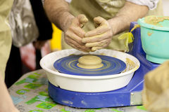 At the pottery class Stock Photography